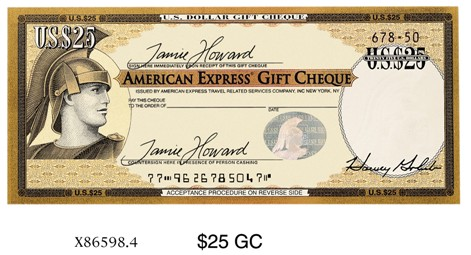 American Express Travel Cheque Card